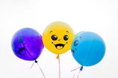 Balões da cor isolados no branco Imagens de Stock Royalty Free