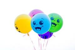 Balões da cor isolados no branco Fotografia de Stock Royalty Free