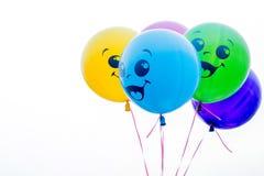 Balões da cor isolados no branco Imagem de Stock