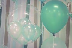 Balões da cor pastel Fotos de Stock