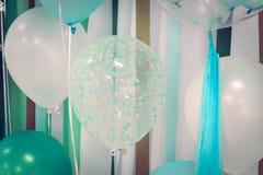 Balões da cor pastel Fotografia de Stock Royalty Free