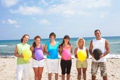 Balões da terra arrendada dos povos Fotografia de Stock Royalty Free