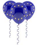 Balões da UE - bandeira Fotografia de Stock Royalty Free