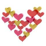 Balões dados forma coração Fotos de Stock Royalty Free