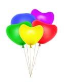 Balões dados forma coração fotografia de stock royalty free