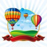 Balões de ar quente Fotografia de Stock