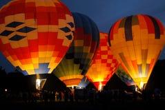 Balões de ar quente coloridos dois Imagem de Stock Royalty Free