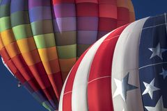 Balões de ar quente coloridos na festa do balão de Albuquerque, Alb Foto de Stock