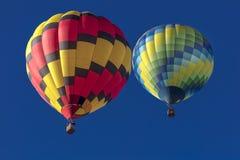 Balões de ar quente coloridos na festa do balão de Albuquerque, Alb Fotografia de Stock
