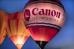 Balões de ar quente coloridos no evento do fulgor da manhã no Albuquerq Imagens de Stock Royalty Free