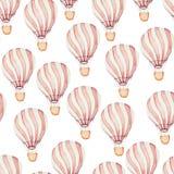 Balões de ar quente do whith do teste padrão ilustração do vetor