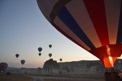 Balões de ar quente em Cappadocia, Turquia foto de stock royalty free