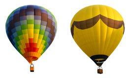 Balões de ar quente, isolados de encontro ao fundo Fotografia de Stock