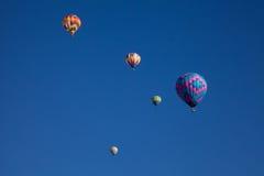 Balões de ar quente na festa de Dawn At The Albuquerque Balloon Fotos de Stock Royalty Free