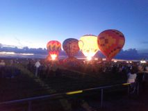 Balões de ar quente de New mexico imagens de stock