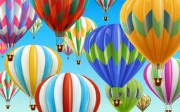 Balões de ar quente no céu ilustração stock