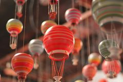 Balões de ar quente para voar para cima fotos de stock