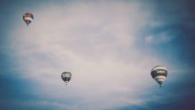 Balões de ar quente sobre Bristol Imagem de Stock Royalty Free