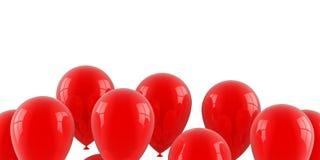 Balões de ar vermelhos Fotografia de Stock Royalty Free