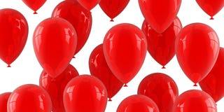 Balões de ar vermelhos Fotografia de Stock