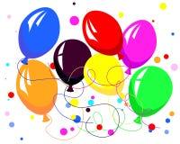 Balões de Colorfull Fotografia de Stock Royalty Free