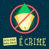 Balões de fogo proibidos Fotografia de Stock Royalty Free