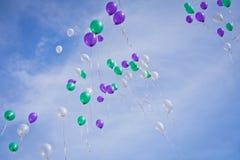 Balões de Multscolored imagens de stock