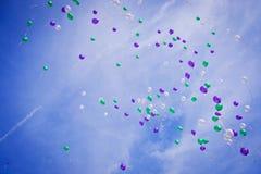 Balões de Multscolored foto de stock royalty free