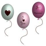 Balões do amor em 3D Imagem de Stock