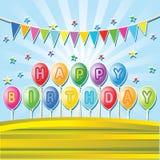 Balões do aniversário ilustração do vetor