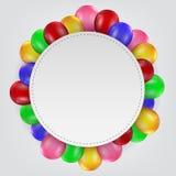 Balões do aniversário com sinal vazio Fotos de Stock Royalty Free