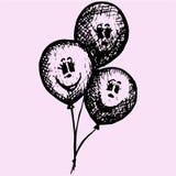 Balões do aniversário ou do partido Foto de Stock Royalty Free