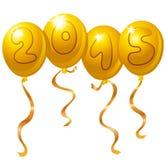 2015 balões do ano novo Fotos de Stock Royalty Free