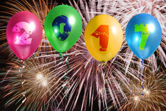 2017 balões do ano novo Foto de Stock Royalty Free