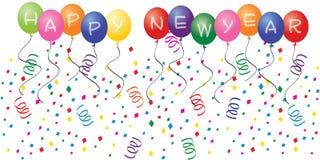 Balões do ano novo feliz Foto de Stock Royalty Free