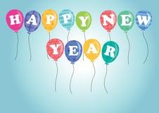 Balões do ano novo feliz imagens de stock royalty free