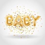 Balões do bebê do ouro Imagens de Stock