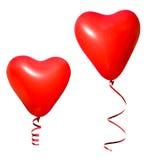 Balões do coração do Valentim Imagens de Stock Royalty Free