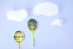 Balões do corte do papel Foto de Stock