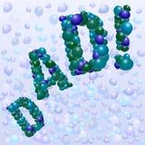 Balões do dia de pai ilustração do vetor