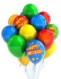Balões do feliz aniversario Fotos de Stock