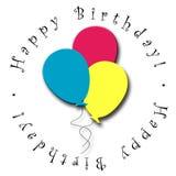 Balões do feliz aniversario Ilustração Royalty Free