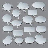 Balões do texto Coleção de bolhas do discurso Imagens de Stock Royalty Free