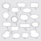 Balões do texto Coleção de bolhas do discurso Imagem de Stock Royalty Free