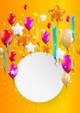 Balões do voo com papel vazio Fotografia de Stock