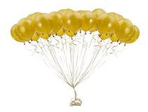 Balões dourados Imagem de Stock Royalty Free
