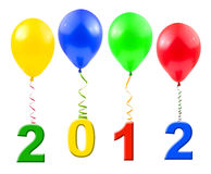 Balões e 2012 Fotografia de Stock Royalty Free