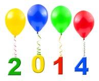 Balões e 2014 Imagem de Stock Royalty Free