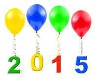 Balões e 2015 Imagens de Stock Royalty Free