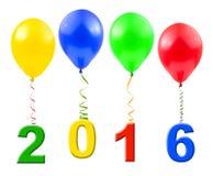 Balões e 2016 Foto de Stock